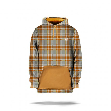 Osipo Cubo (Orange-Grey) Hoodie